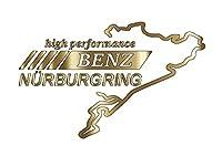 ニュルブルクリンク カッティングステッカー BENZ 屋外耐候シート (ゴールド)