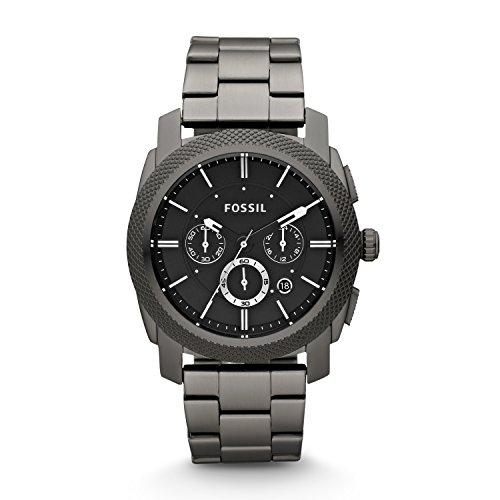 Fossil Herren Chronograph Quarz Uhr mit Edelstahl Armband FS4662
