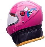 ewrwrwr Motorrad Kind Baby Warmer Helm Kinderschal Helm abnehmbar-Rosa