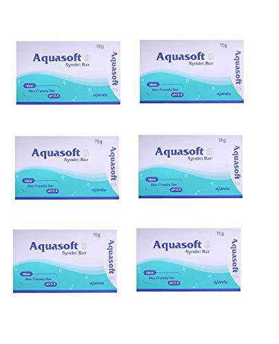 Operio AQUASOFT S SYNDET BAR SKIN FRIENDLY SOAP (PACK OF 6*75)