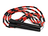 Aerolooks® Jump Rope with Plastic Beaded & Long Handle Freestyle Skipping Rope MMA, Boxing, Skipping Workout, Fitness Exercise. (10ft)