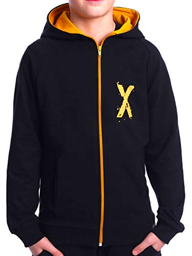 BEZLIT Kinder Jungen Hoodie Kapuzen Pullover Sweatshirt Sweater Sweatjacke Pulli 30237 Schwarz 158