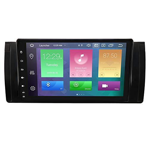 hizpo Autoradio GPS Navigation Android 10 OS 9 Zoll Touchscreen WiFi Bluetooth Fit für BMW 5 E39 BMW X5 E53 BMW M5 BMW 7er