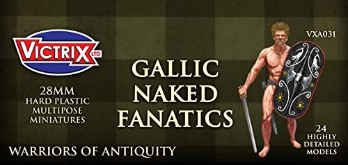 Victrix VXA031 - Ancient Gallic Fanatics - 24 Figuren Set - 28mm Plastikminiaturen - Krieger der Antike