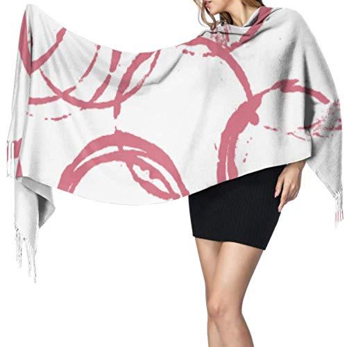 Disfrute de la hermosa bufanda de cachemir de vino tinto de arte retro Bufanda de moda para mujer Chal de abrigo suave 77x27 pulgadas / 196x68cm Pashmina suave grande extra cálida
