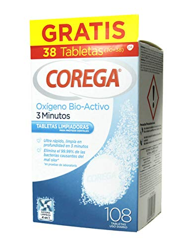 COREGA OXIGENO BIO-ACTIVO TABLETAS 70 (+38 GRATIS)