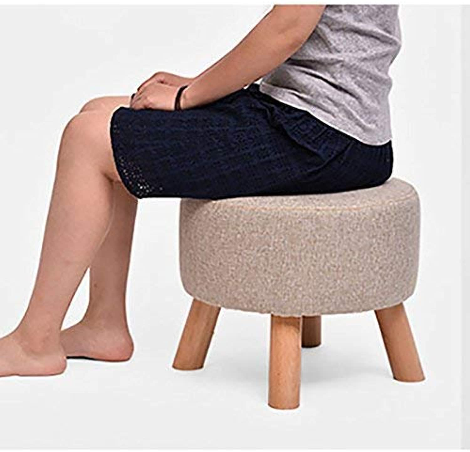 JZX Solid Wood Fabric shoes Bench, Footstool