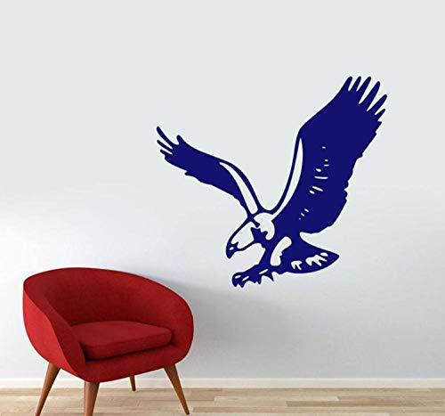 Muursticker 42 x 45 cm Flying Eagle Cave wandlamp voor dieren van PVC moderne decoratie waterdicht zelfklevend DIY creatief