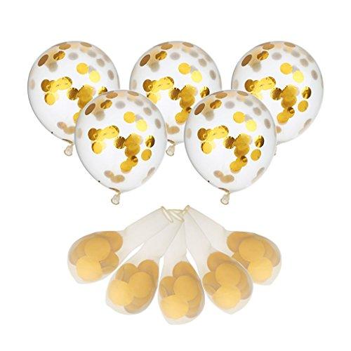 Runrain Qualité Doré Confettis Ballons 30,5 cm Latex Party Décorations de mariage