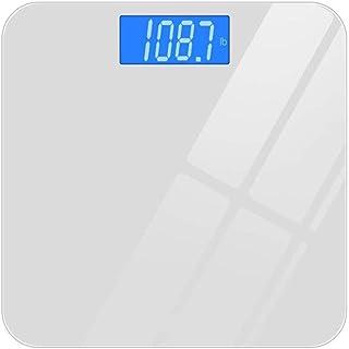 GUOCAO Báscula de pesaje digital de baño con Bluetooth, balanza de grasa corporal Bmi Smart Digital Bmi Báscula de peso inalámbrica para baño, aplicación Android iOS Max 180 kg, negro digital