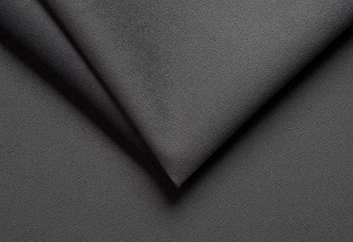 Ch.Cabanski Amaretta Imitat Microfaser Velour Meterware Kaschiert ca. 3mm Schaum/Graphit