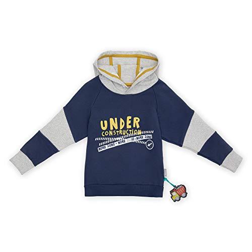 Sigikid Mini-Jungen Sweatshirt mit Kapuze aus Bio-Baumwolle, Gre 098-128 Sudadera, Gris-2, 8 aos para Nios