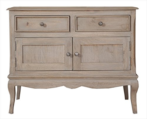 Loire French Grey/2 Door 2 Drawer Sideboard Fully Assembled