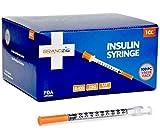 Brandzig Ultra-Fine Insulin Syringes 29G 1cc 1/2' 100-Pack