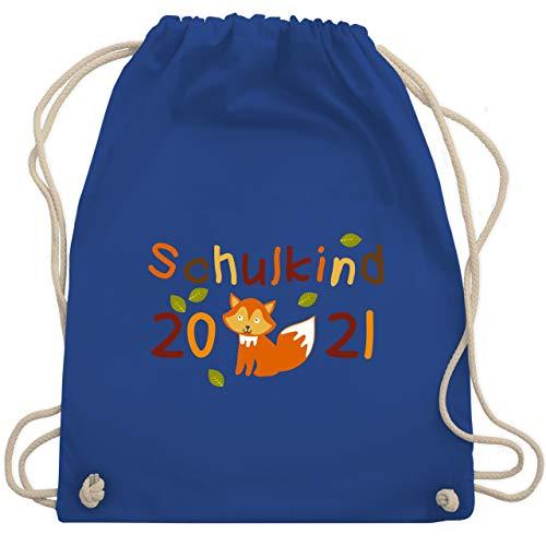 Shirtracer Einschulung und Schulanfang - Schulkind 2021 Fuchs Herbst - Unisize - Royalblau - verpackung zur einschulung turnbeutel - WM110 - Turnbeutel und Stoffbeutel aus Baumwolle