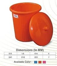 Samruddhi Plastic Dustbin Bucket Waste (Eco7, 7L, Blue, Pink and Orange)