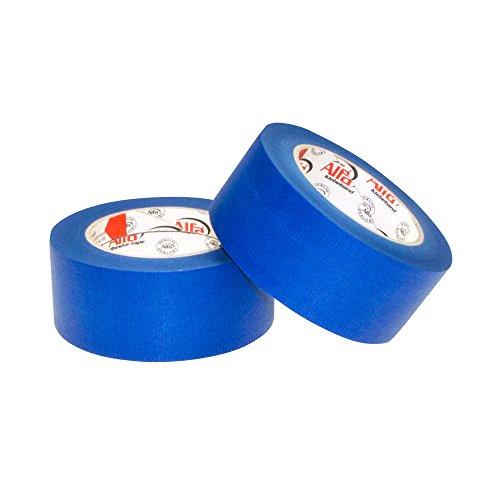 2x Blue Tape blau 50 mm x 50 m blaues Klebeband/Kreppband für den 3D-Druck Malerkreppband