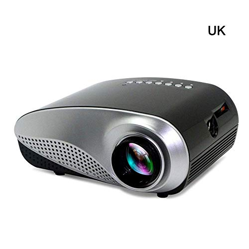 Famyfamy 1080P 3D LED Mini Bolsillo Proyector Full HD Proyector Multimedia Cine en Casa USB VGA TV Sistema de Cine en Casa para Vídeo Película Juego Entretenimiento Hogar - Negro, UK