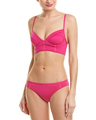 Proenza Schouler Two-Piece Classic Bikini (L) Electric Pink