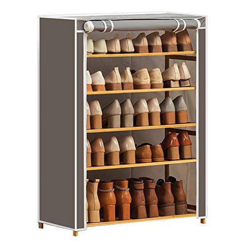 Zunruishop Schuhablage Fünfstöckiges Schuhregal Schuhablage-Organizer-Schrankturm mit Oxford-Stoffbezug Geeignet for Familienschlafsäle Schuhregal-Regale (Color : Gray)