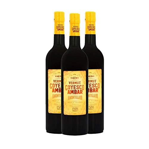 Vermut Goyesco Ambar de 75 cl - D.O.Sanlucar de Barrameda - Bodegas Delgado Zuleta (Pack de 3 botellas)