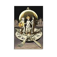 約束のネバーランド ホーム装飾 アートパネル プリント キャンバス 壁アート 現代壁掛け 絵画 版画 芸術作品 インテリア16×24inch(40×60cm)