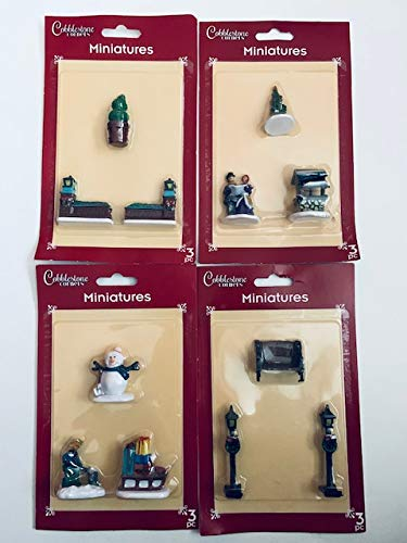 Cobblestone Corners Twelve (12) Miniature Characters for Your Miniature Village - Christmas/Winter Theme