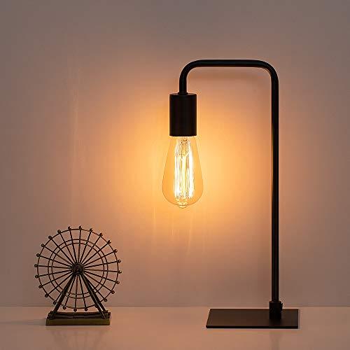 Lámpara de mesa Edison industrial, moderna mesita de noche, lámpara de escritorio para dormitorio, habitación de huéspedes,...