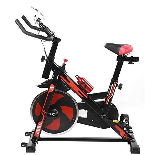 DAUERHAFT Bicicleta estática Bicicleta dinámica con Soporte para teléfono móvil Equipo Deportivo Interior Rueda de Mosca de 8 kg para Uso doméstico