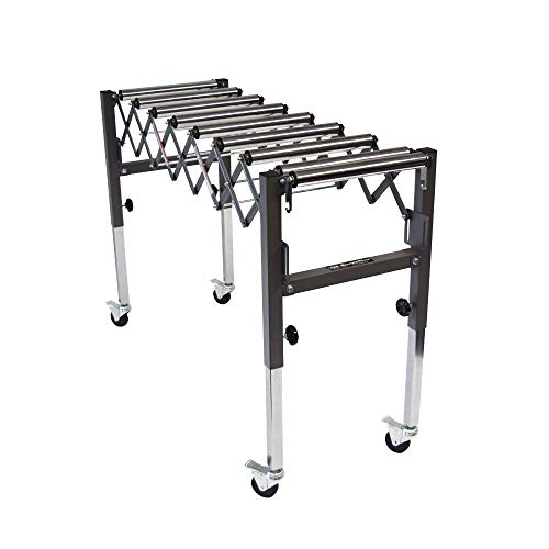 SUPERMAX TOOLS Expandable Roller Conveyor - Adjusts up to 50
