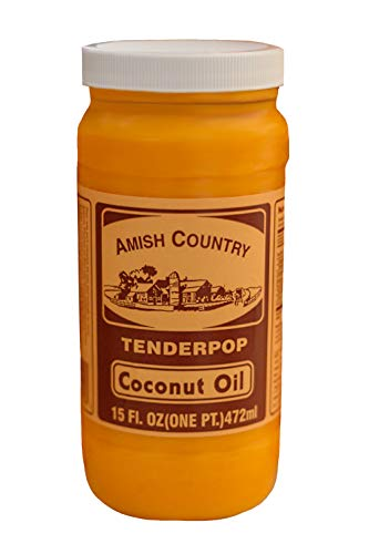 Amish Country Popcorn - Coconut Oil (15 Ounce) - with Recipe Guide- Old Fashioned, Non GMO and Gluten Free