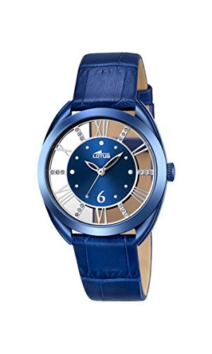 Lotus Damen Datum klassisch Quarz Uhr mit Leder Armband 18253/2