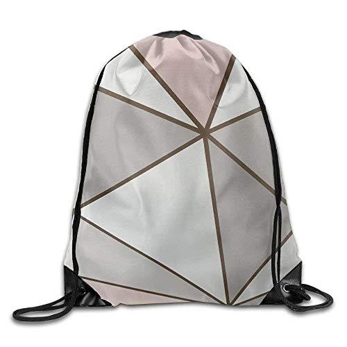 Corner Time Small Artificial Flowers 3D Geometric Figure Gym Drawstring Backpack Unisex Portable Sack Bag