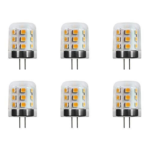 Makergroup T3 G4 Bi-pin LED Light Bulbs 12VAC/DC Low Voltage 3Watt Warm White 2700K-3000K for Outdoor Landscape Lighting Path Lights, Deck Lights, Step Lights,Paver Lights 6-Pack