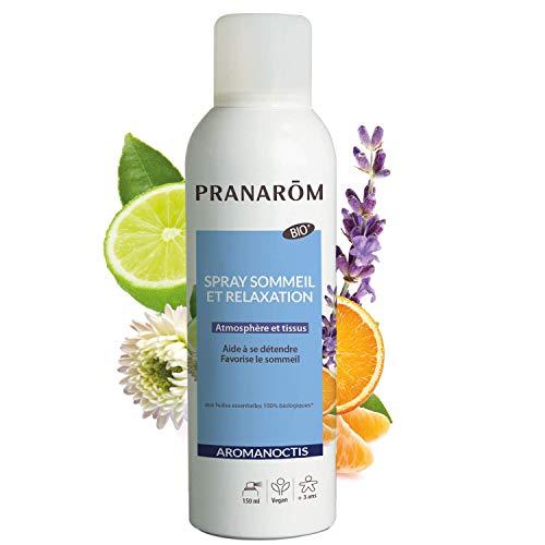 Pranarôm - Aromanoctis Spray sommeil et relaxation - Relaxe | Favorise l'endormissement - Huiles Essentielles Biologiques - 150 ml