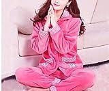 Bodis Lencería para Mujerconjuntos De Pijama De Mujer De Franela Gruesa De Invierno -Color_13_M