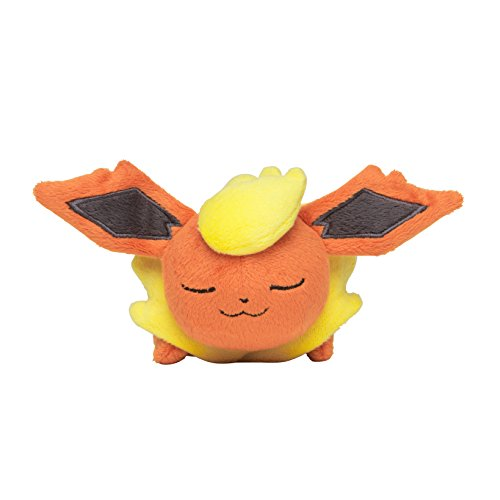 Pokemon Center Original Sleeping 3 1/2 Inch Kuttari Flareon Plush
