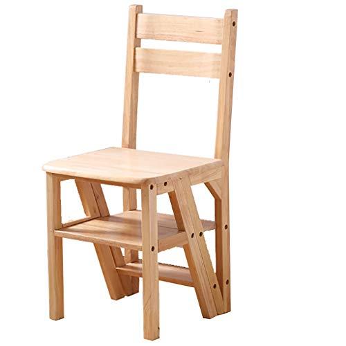 4-stufiger Leitersessel, multifunktionaler, klappbarer Küchenleitersessel aus Naturholz, modernes Leiter-Bücherregal aus Holz, Standregal, Wandregal - Tragkraft 150 kg