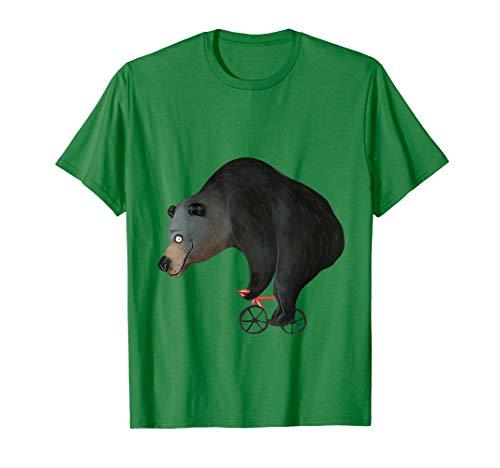 Rennrad Grizzly Bär Radsport Geschenk I Braunbär Radsportler T-Shirt