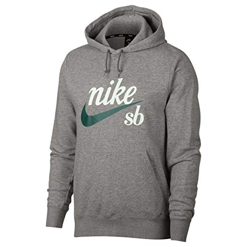 Nike M NK SB Hoodie Washed ICON Flint Grey/Black/White - M