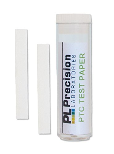 Eisco Labs Phenylthiourea (PTC) Paper Strips - Genetic Taste Testing (Vial of 100) - Model FSC1031 - Pack of 5