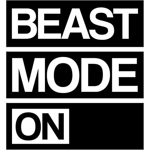 My Vinyl Story   Beast Mode On   Motivational Large Gym Wall Decal cita para el hogar gimnasio entrenamiento motivacional decoración de pared vinilo extraíble