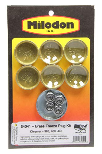 Milodon 34041 Brass Freeze Plug Kit for Big Block Chrysler 383/440