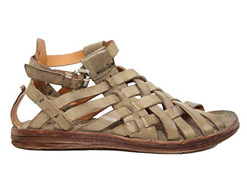 A.S. 98 Africa 534076 Damen-Sandalen aus Leder, Braun - Schlamm - Größe: 38 EU