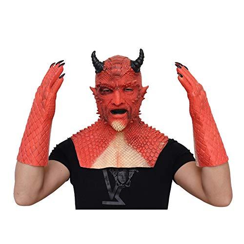 Ymlove Halloween Demon Maske und Handschuhe Hood Claws Film- und Fernsehrequisiten Geeignet für Halloween-Party und Bar-Unterhaltung