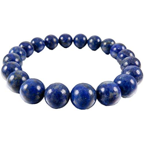 munkimix bracciale uomo MunkiMix 10mm Bracciale Energia Collegamento Polso Energia Stone Blu Lapislazzuli Buddha Preghiera di Mala Perline Donna