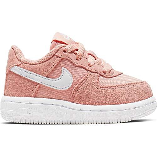 Nike Force 1 PE (PS), Scarpe da Basket Bambino, Multicolore (Coral Stardust/White 600), 32 EU