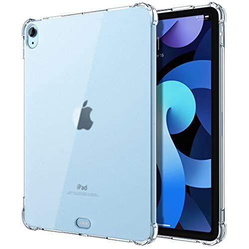 TiMOVO Funda Compatible con Nuevo iPad 10.9 Inch, iPad Air 4.ª Generación 2020, Carcasa Trasera de TPU Suave Mate Translúcida con Colchón de Aire, Cristal Claro