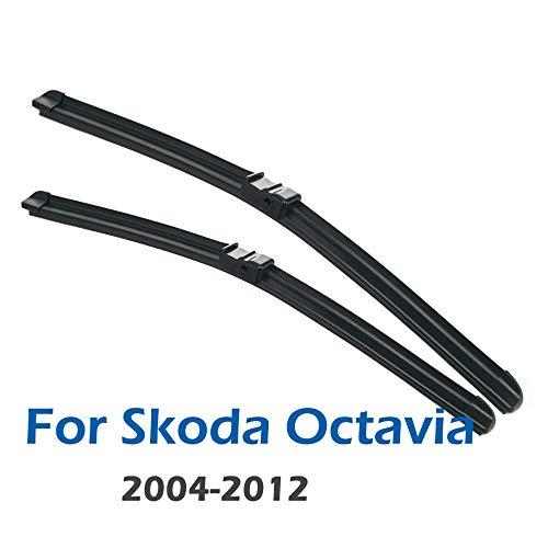 ZHHRHC Voorruit Voorruit Ruitenwisser Voorruitenwisserbladen, Voor Skoda Octavia 1Z A5 2004-2013