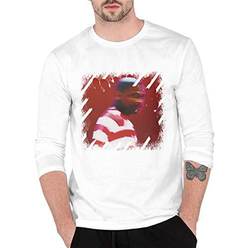 Nanabang YG Still Brazy Men Long Sleeve Round Neck T-Shirt Vintage White M